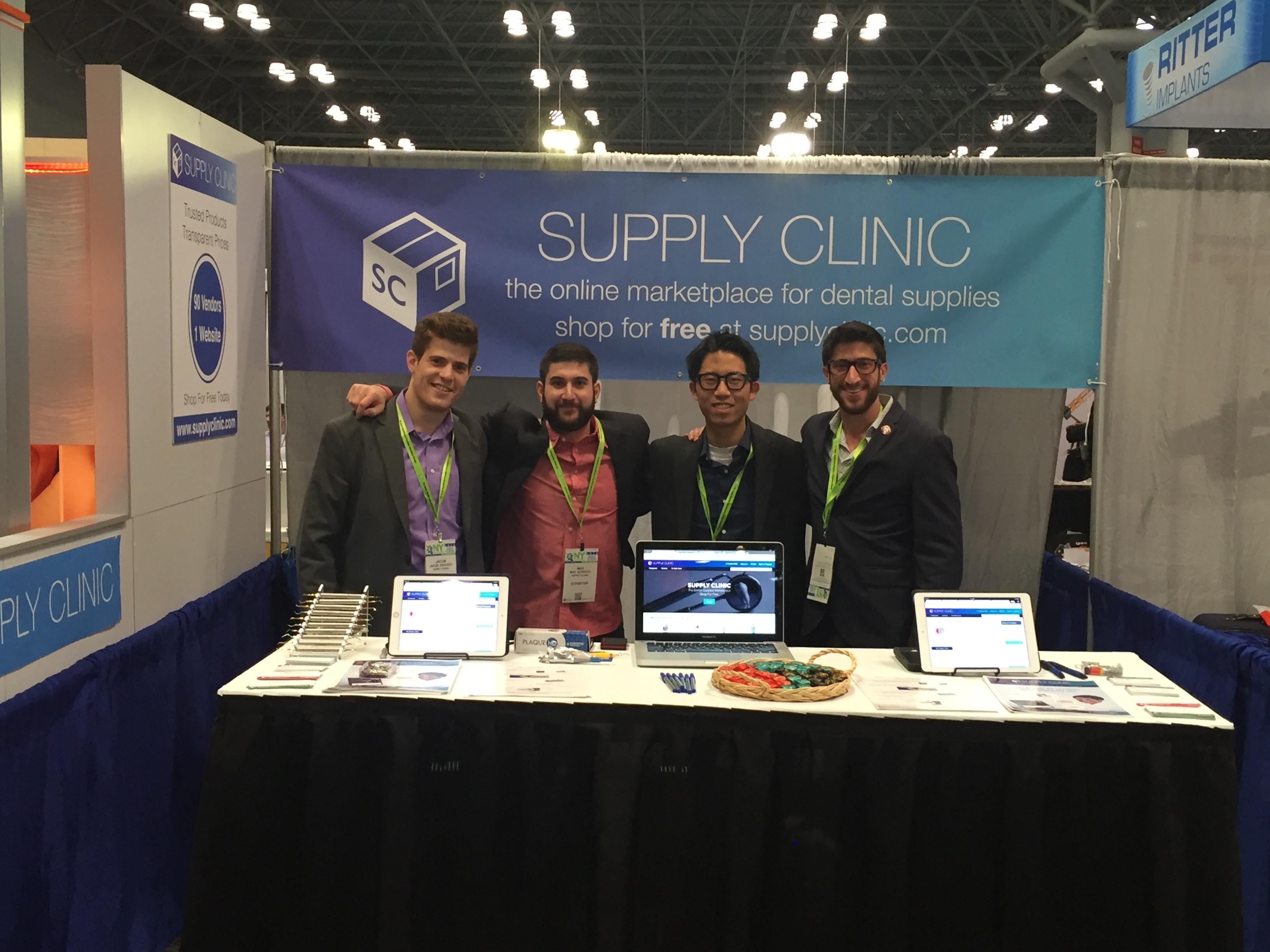 Jacob, Max, Steven, and Scott at the Greater New York Dental Meeting